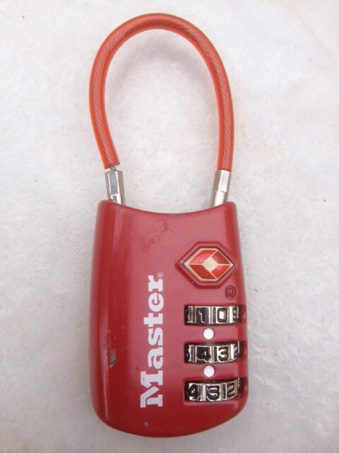 This is the lock I used on my backpack while in Rio.