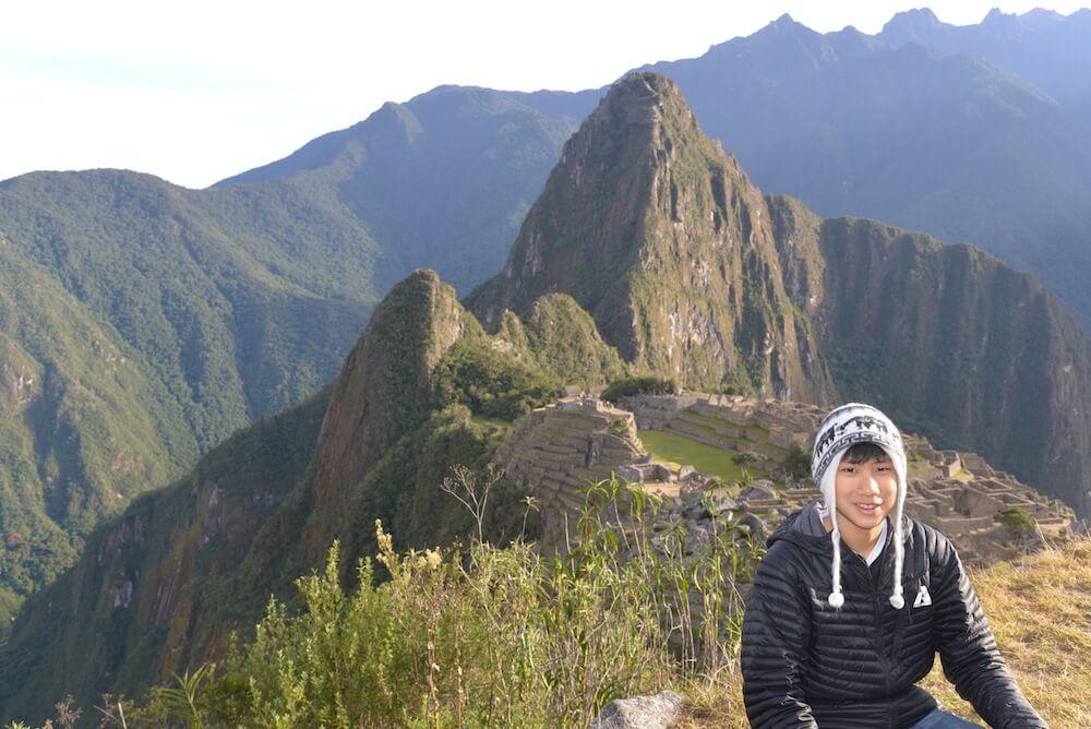 I also wore it in Machu Picchu