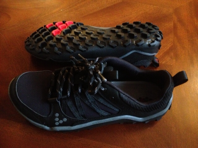 Vivobarefoot trail running shoes that I used for traveling.