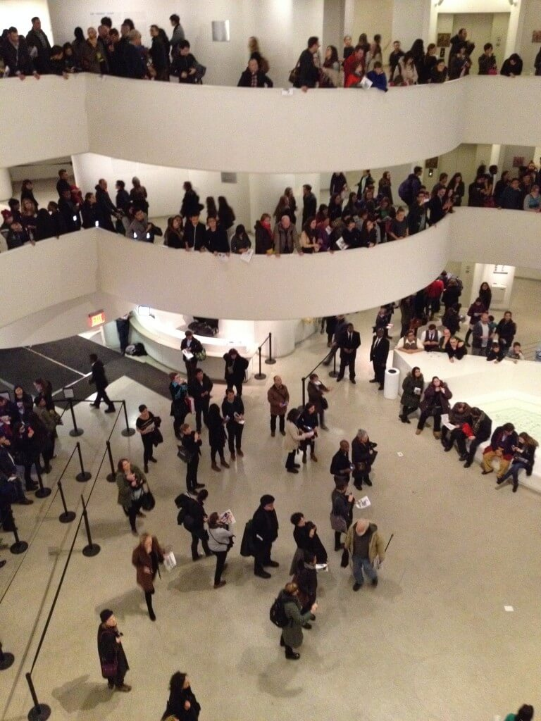 Protesters left the museum like nothing happened.