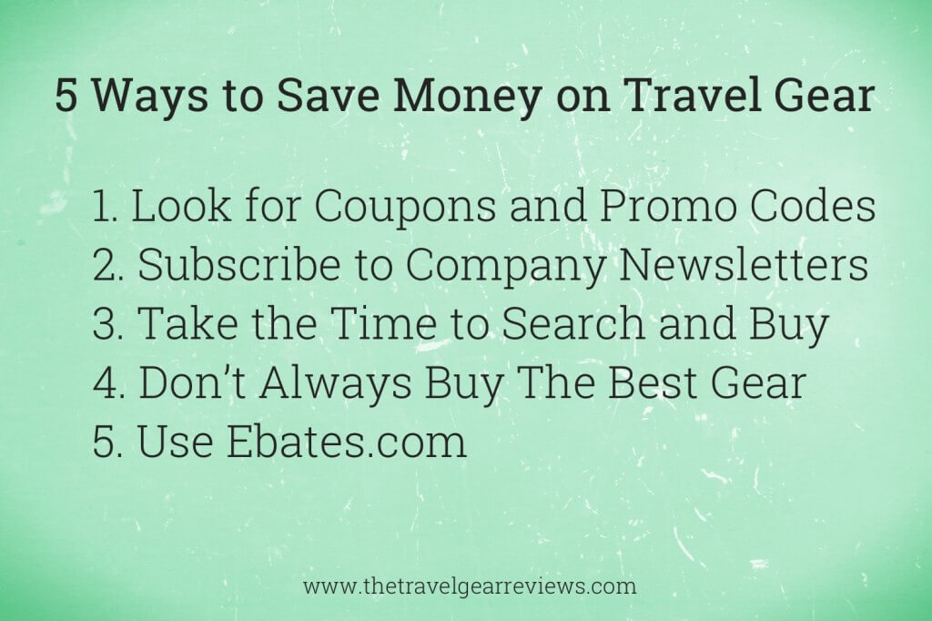 5 Ways to Save Money on Travel Gear