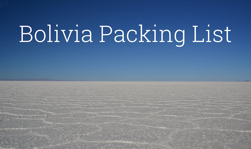 bolivia packing list
