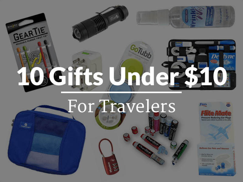 10 gifts under $10 for travelers