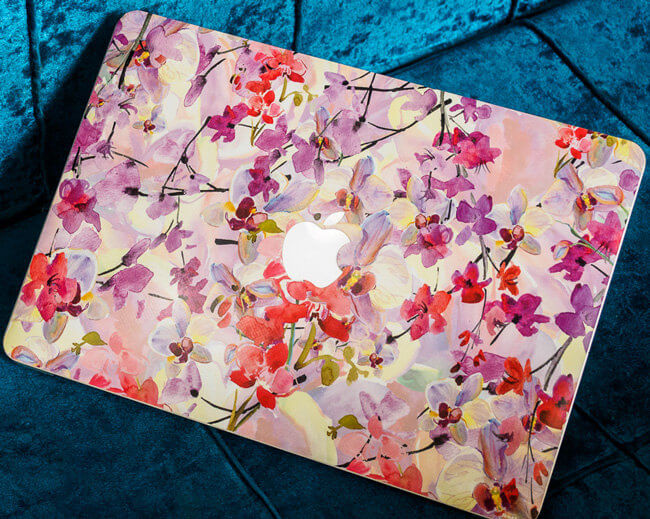 macbook flower skin