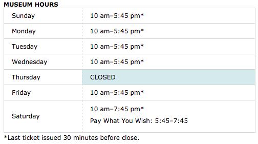 guggenheim hours