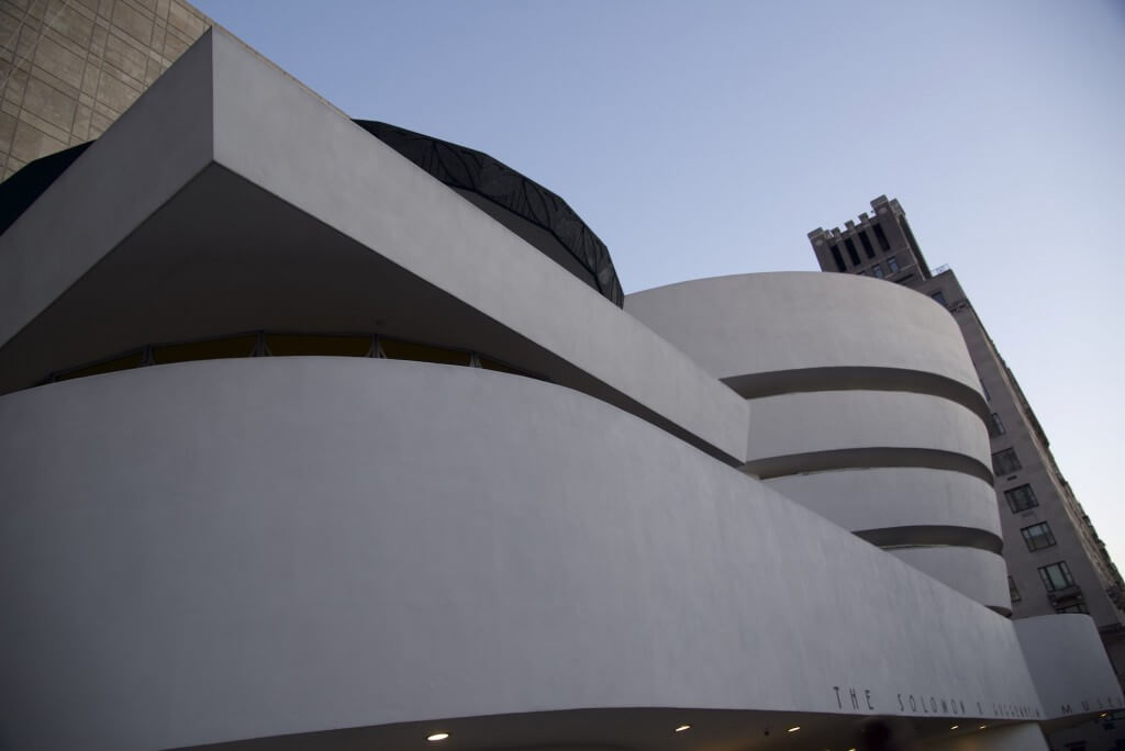 exterior of the guggenheim museum