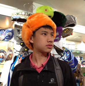 touristy Orange Ushanka
