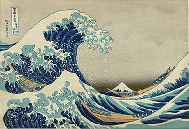 The Great Wave off Kanagawa is another famous piece in the Met