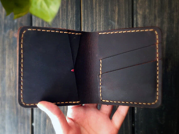 Leather wallet for teen guys