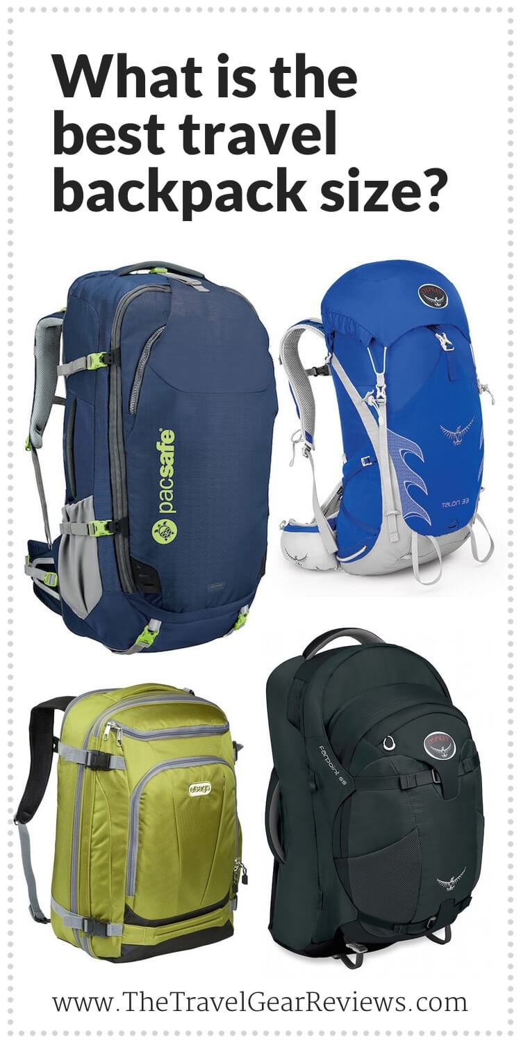 What is the best travel backpack size?
