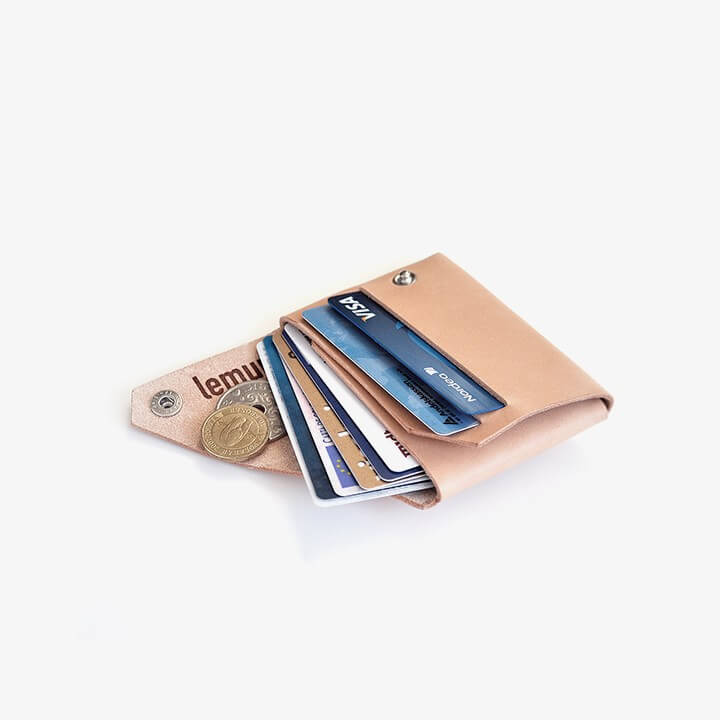 The Lemur wallet can hold several cards, cash and coins