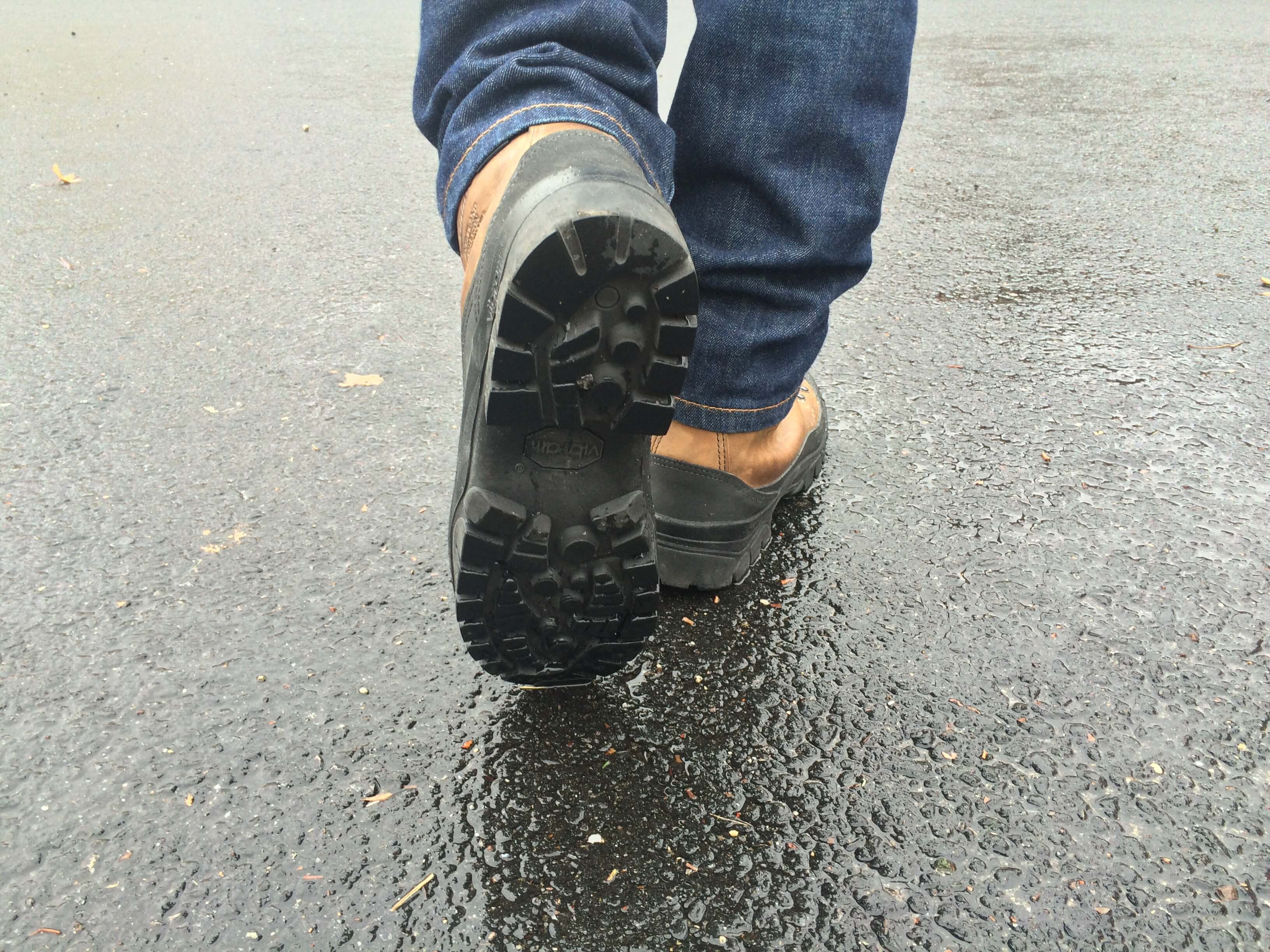 Soles have deep lugs and provide lots of traction, even on slippery surfaces