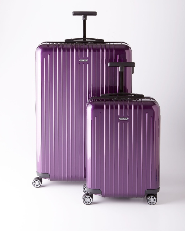 Rimowa Salsa Air Polycarbonate Luggage in purple