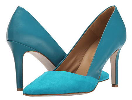 Massimo Matteo Suede and Leather Pump