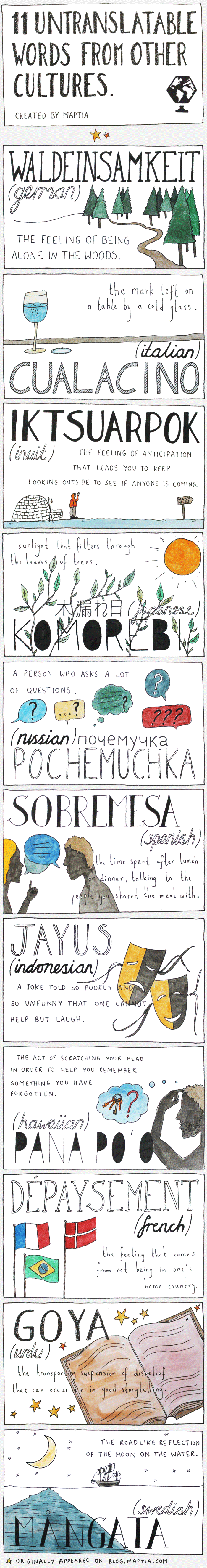 11 Untranslatable Words From Other Cultures