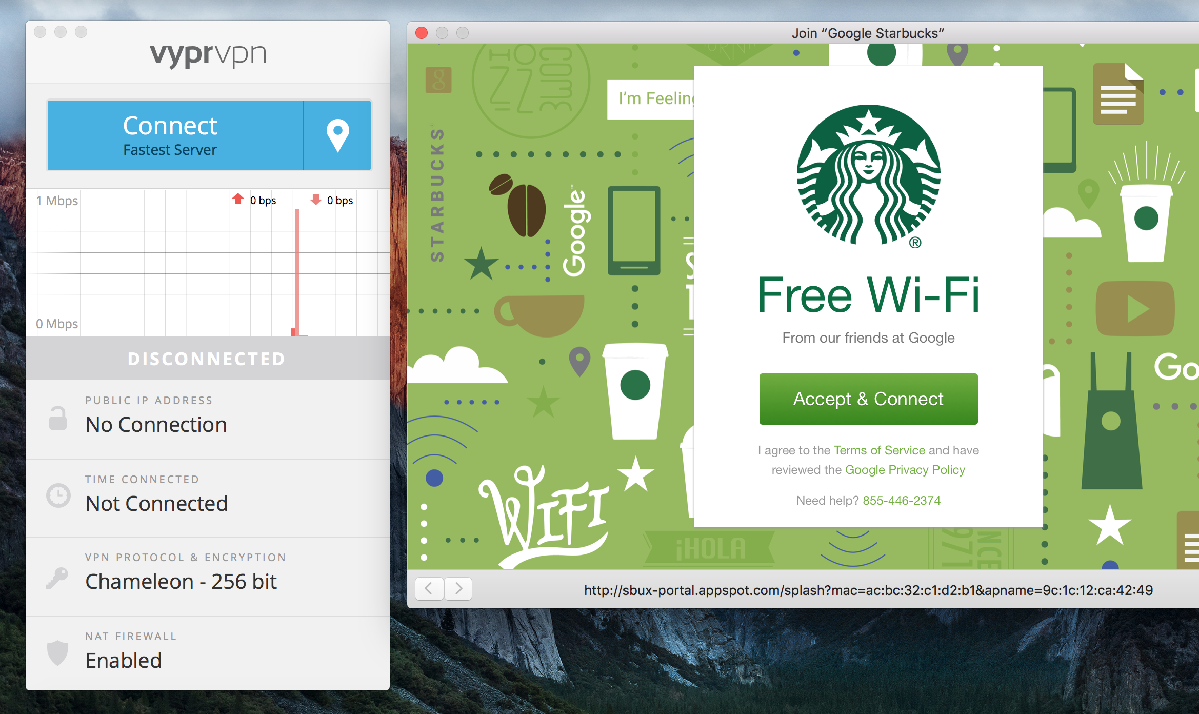 Connecting to the WiFi in Starbucks, NYC