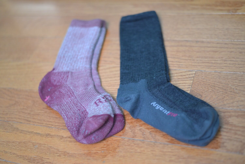 ArgentPro socks next to my REI socks
