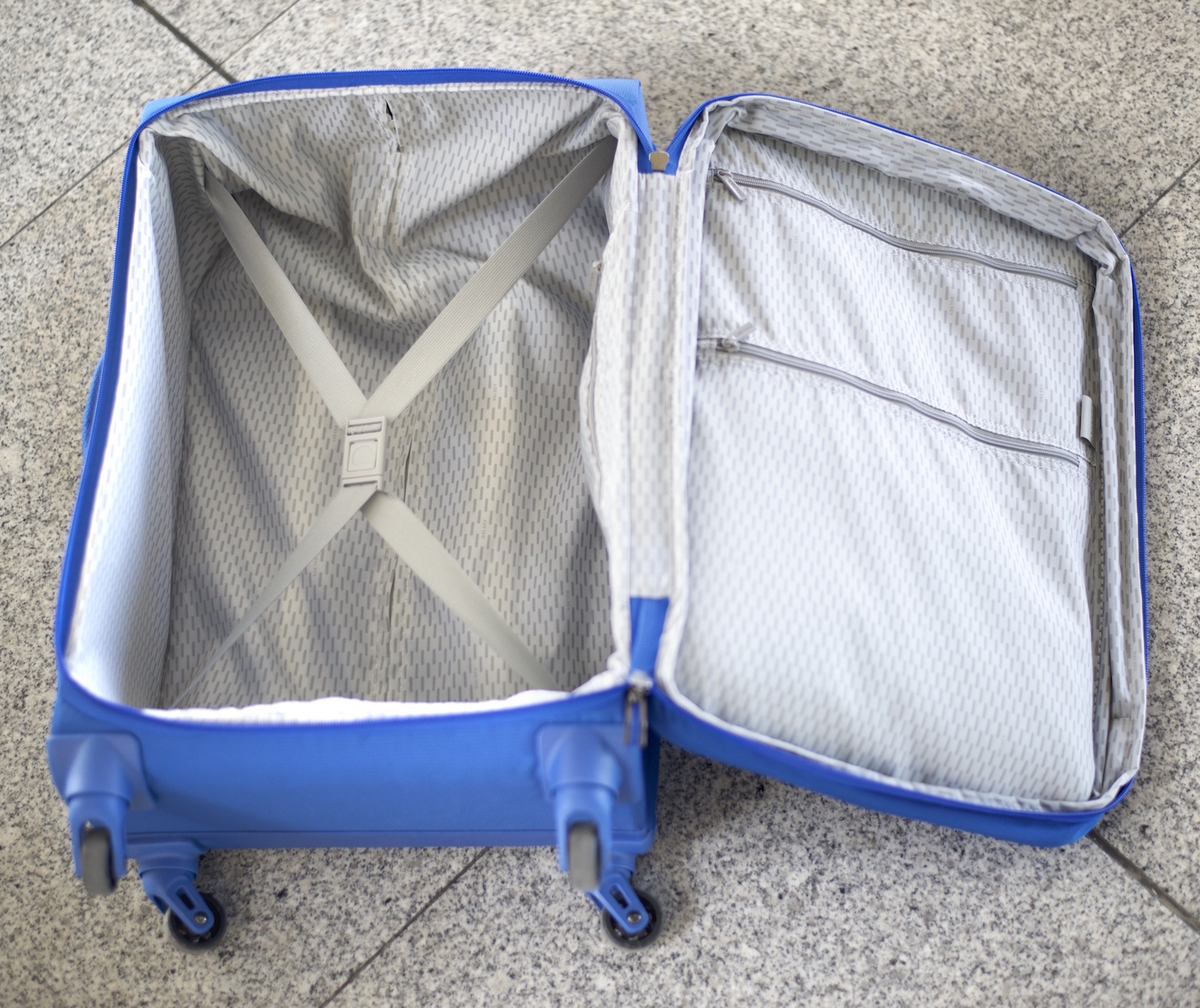 Main compartment of the Delsey Chatillon carry-on luggage review