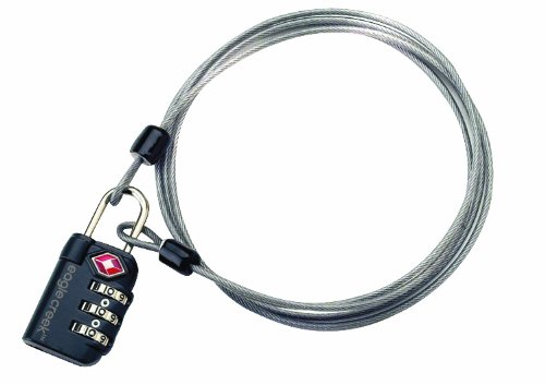 Eagle Creek luggage lock and cable