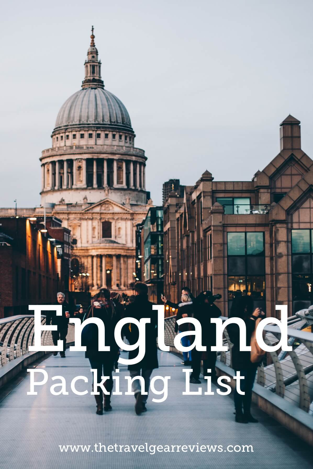 England Packing List