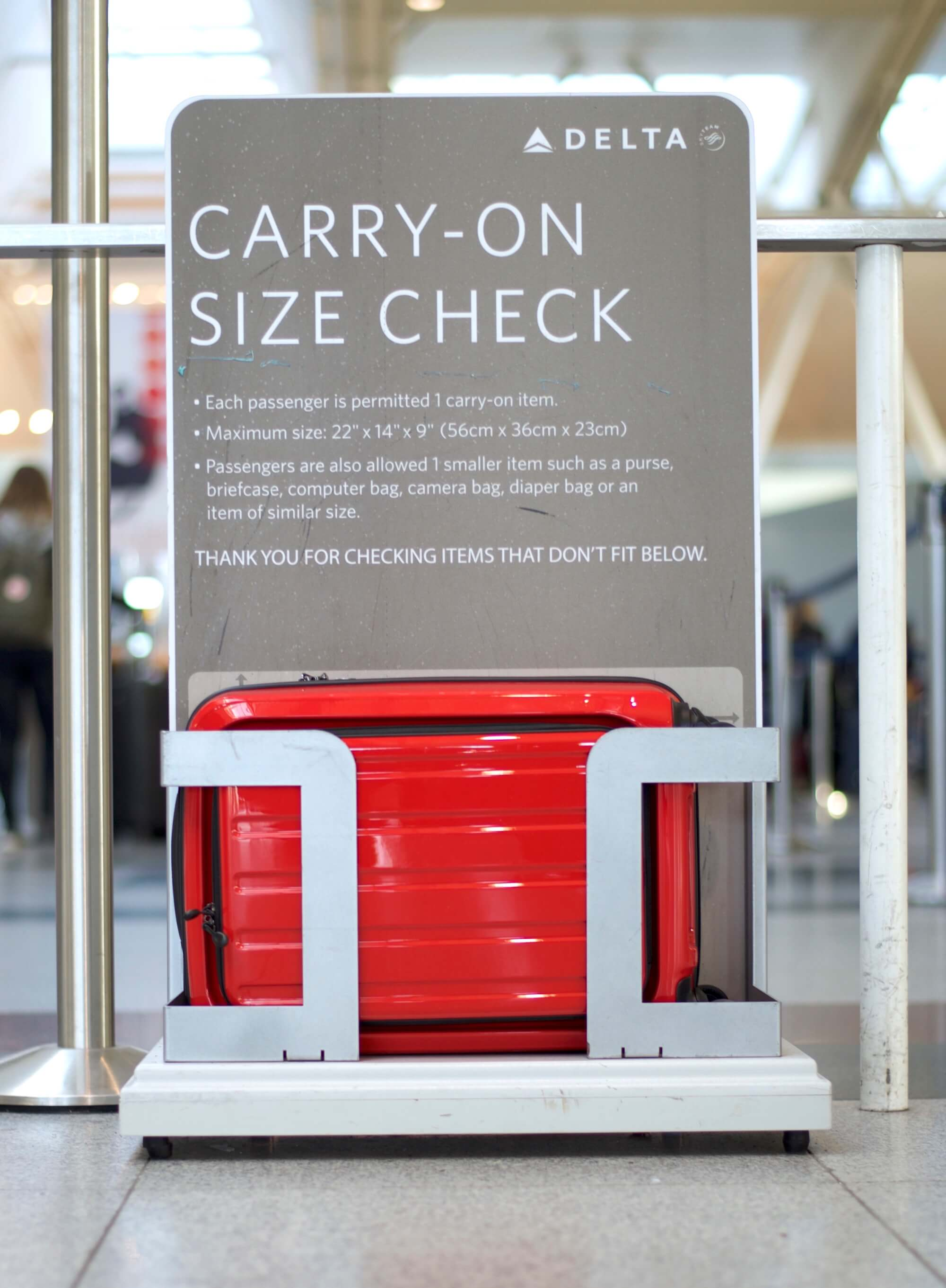 Within carry-on restrictions