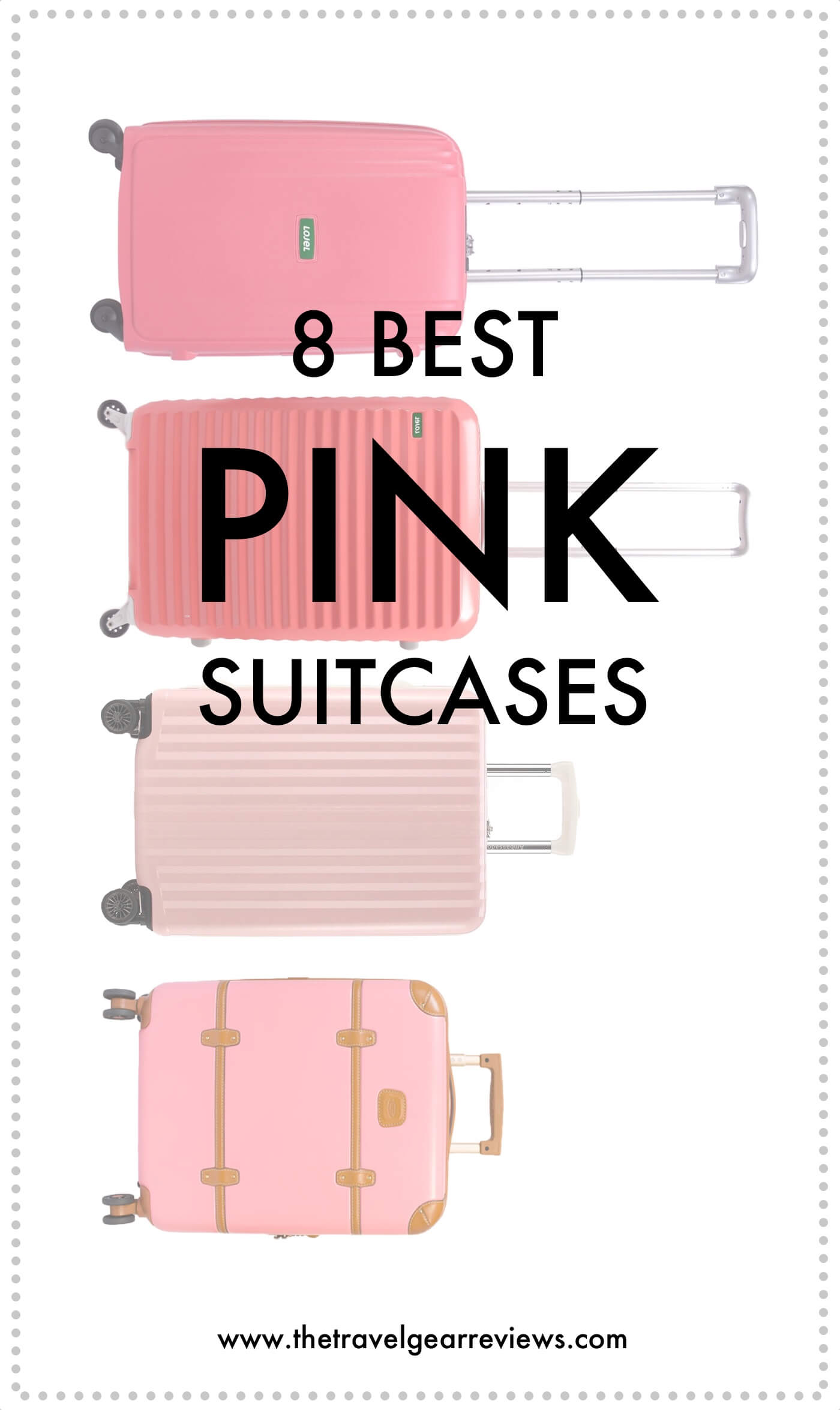 Best pink luggage
