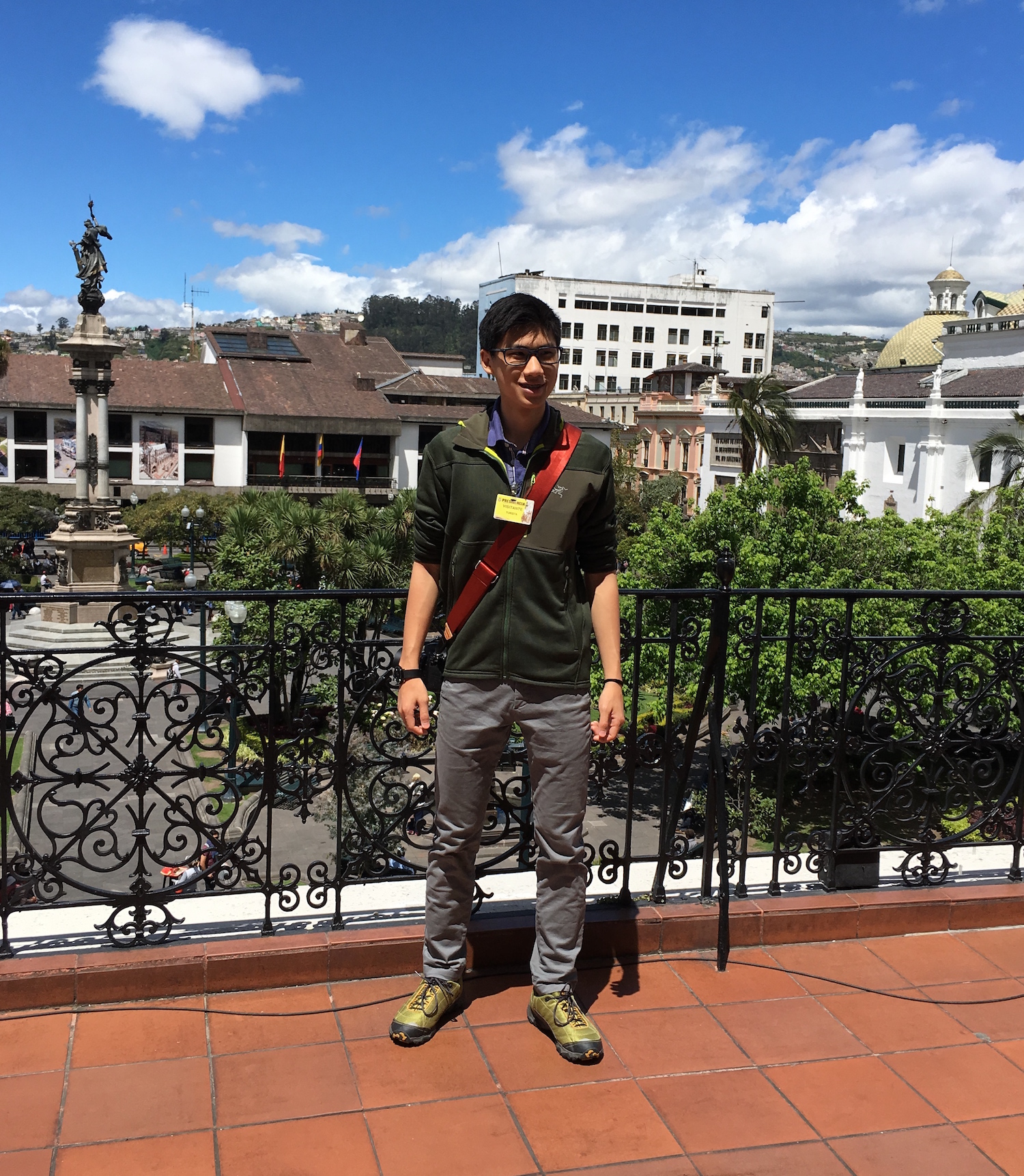 Me at the Presidential Palace in Quito, Ecuador