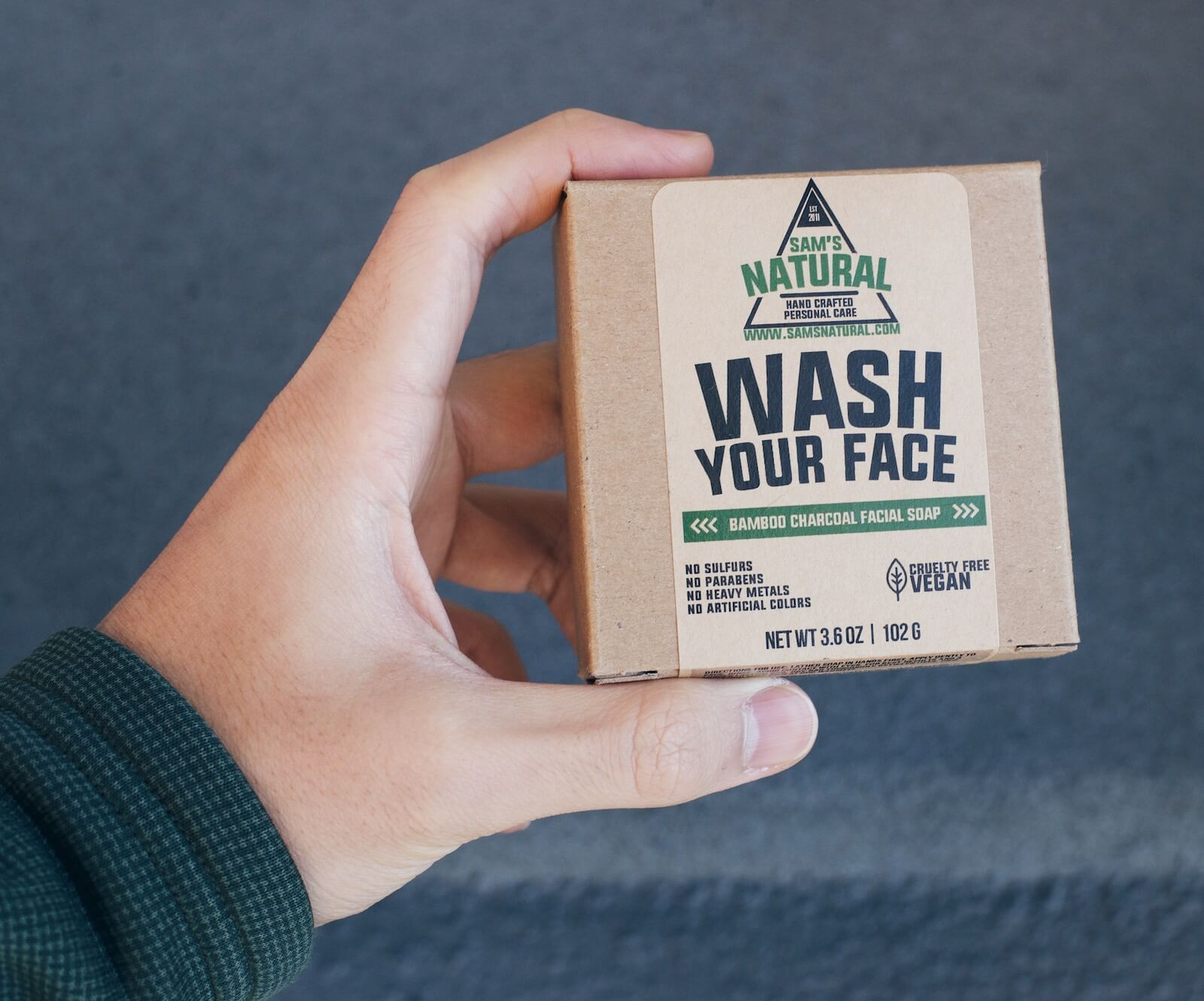 Sam's Natural face soap