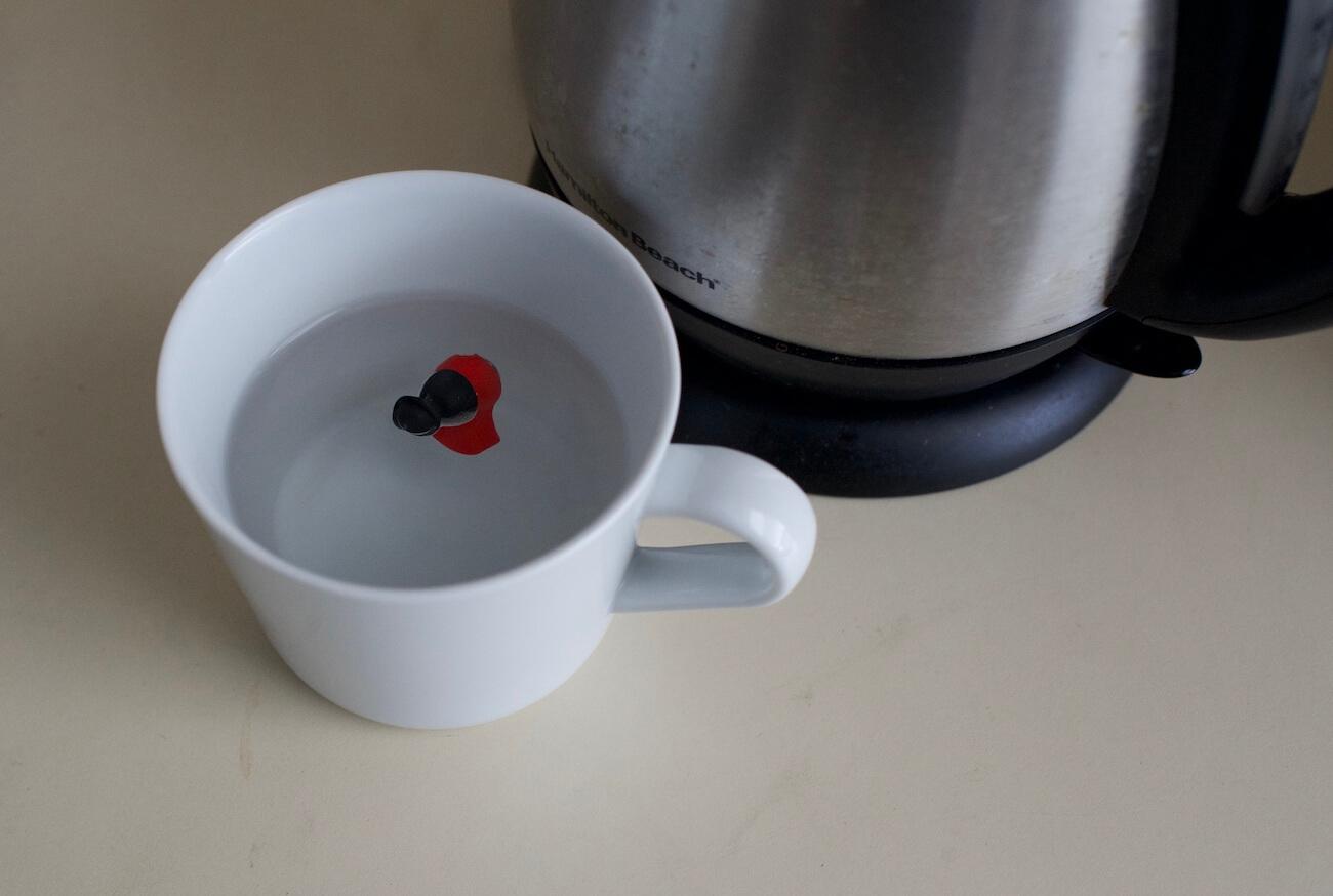 Decibullz Review - Placing the Decibullz earplugs in hot water