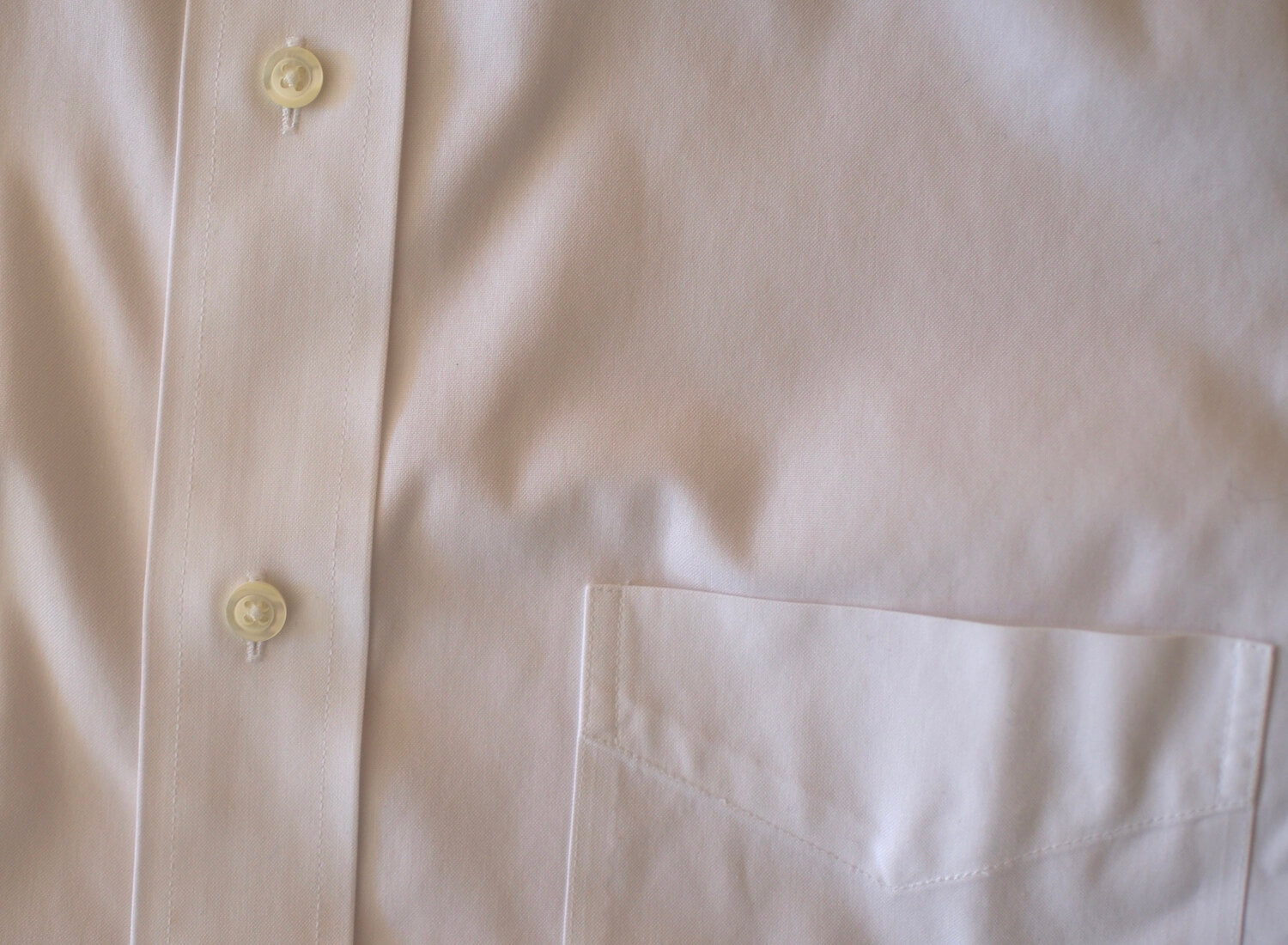 Detail look at the Brooks Brothers shirt