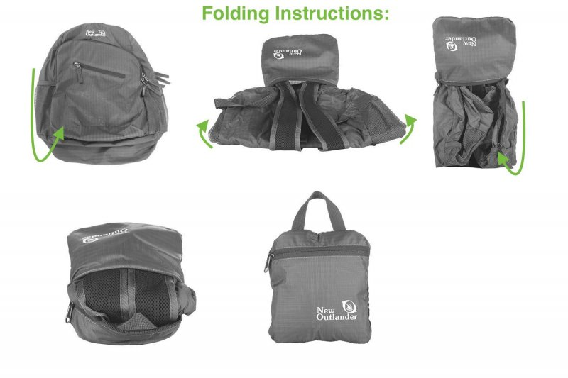 how to fold outlander day pack