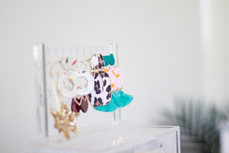 travel inspired earrings